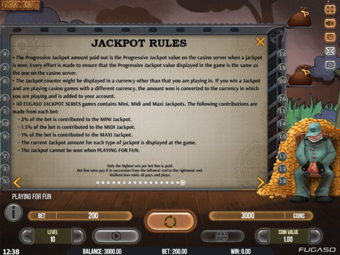 No Deposit Casino Guide image of Golden Shot