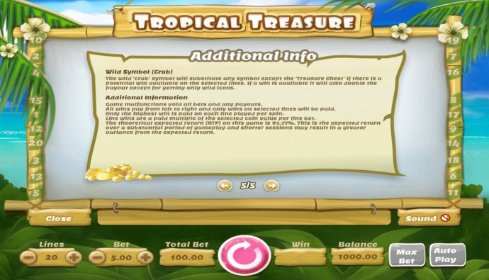 No Deposit Casino Guide image of Tropical Treasure