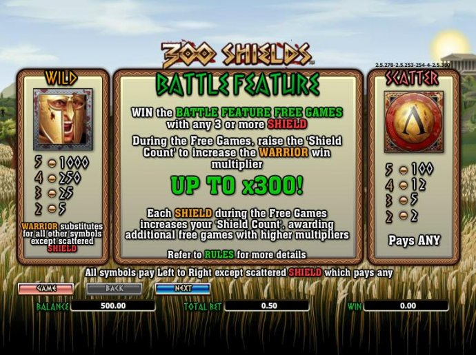 No Deposit Casino Guide image of 300 Shields
