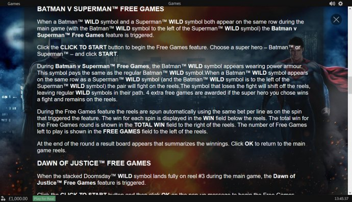 Batman v Superman Dawn of Justice by No Deposit Casino Guide