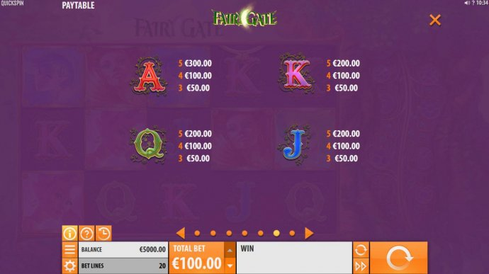 No Deposit Casino Guide image of Fairy Gate