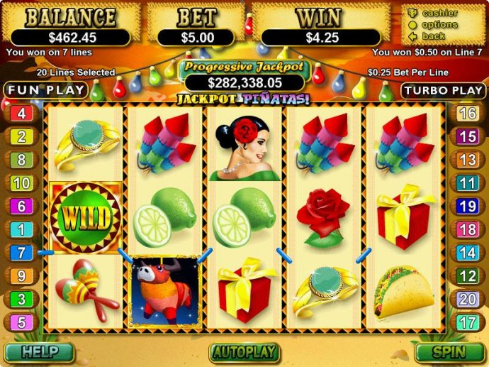 No Deposit Casino Guide image of Jackpot Pinatas