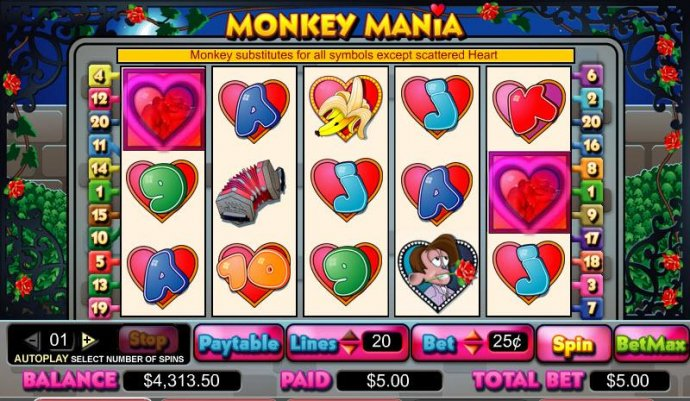 No Deposit Casino Guide image of Monkey Mania