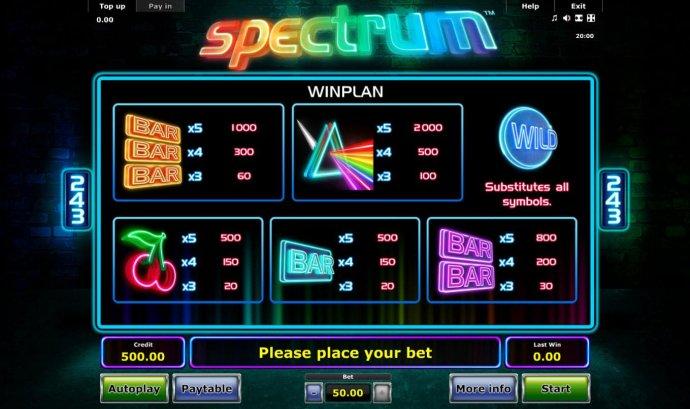 Spectrum screenshot