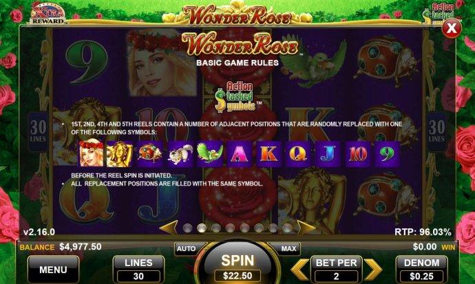 No Deposit Casino Guide image of Wonder Rose