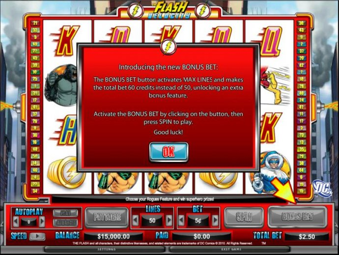 No Deposit Casino Guide image of The Flash - Velocity
