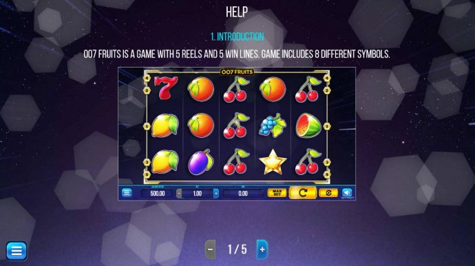 007 Fruits by No Deposit Casino Guide