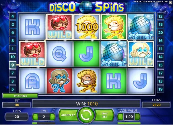 four of a kind triggers a 1000 coin big win payout by No Deposit Casino Guide