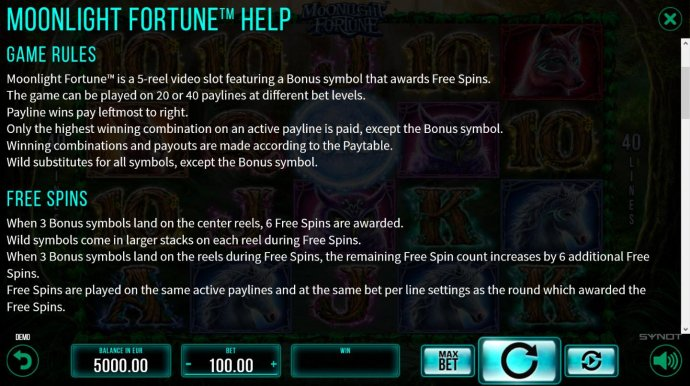 Moonlight Fortune by No Deposit Casino Guide