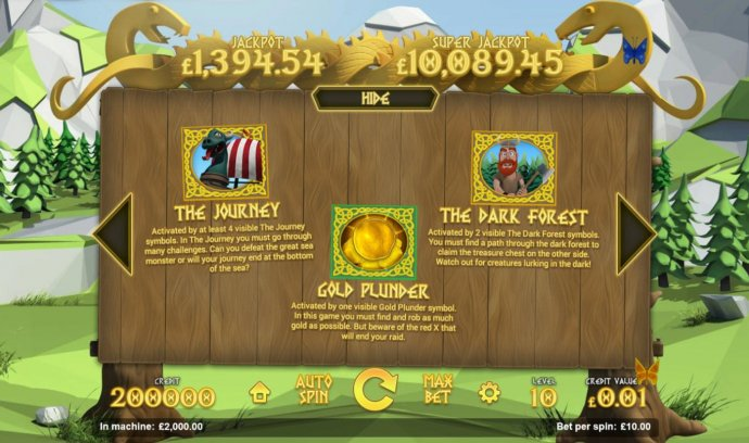 Bonus Games include: The Journey, Gold plunder and The Dark Forest. - No Deposit Casino Guide