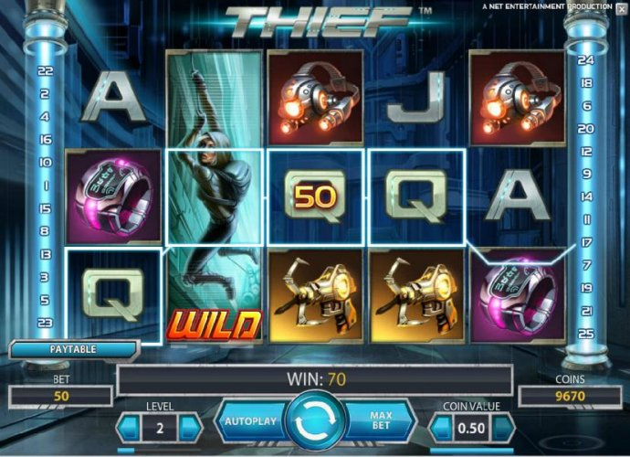 expanding wild triggers 70 coin jackpot by No Deposit Casino Guide