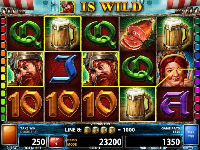 No Deposit Casino Guide - Multiple winning paylines triggers a 1350 coin big win!