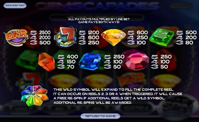 Gemscapades by No Deposit Casino Guide