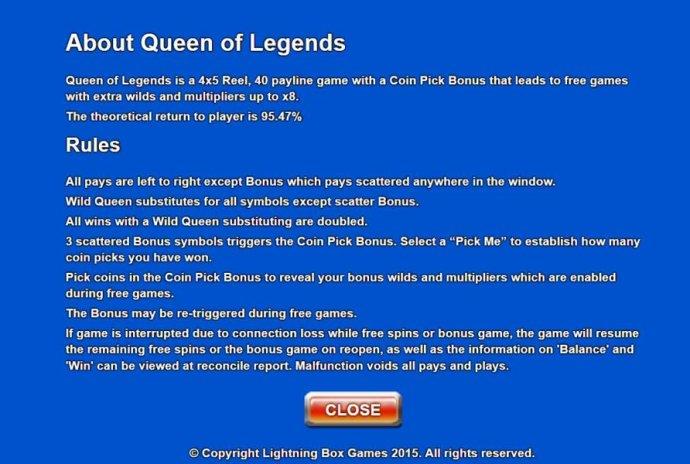 Queen of Legends screenshot