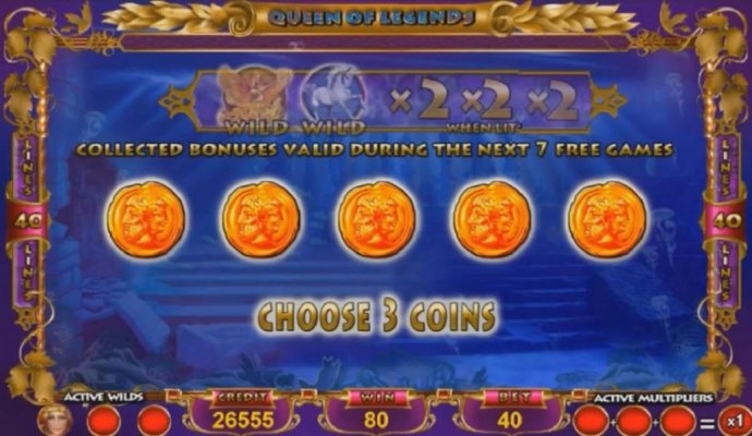 Choose three coins to reveal your prize. - No Deposit Casino Guide