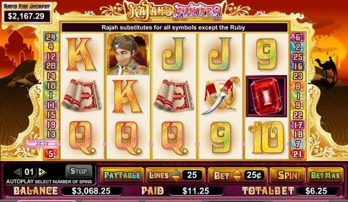 No Deposit Casino Guide image of Rajah's Rubies