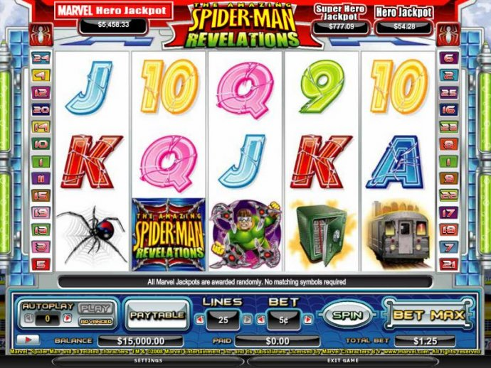 No Deposit Casino Guide image of The Amazing Spider-Man Revalations