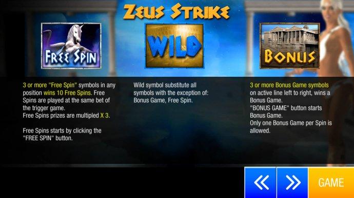 No Deposit Casino Guide image of Zeus Strike