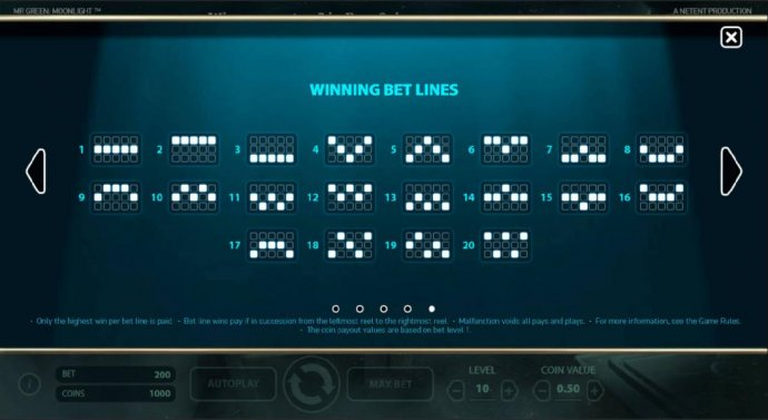 No Deposit Casino Guide image of Mr. Green Moonlight