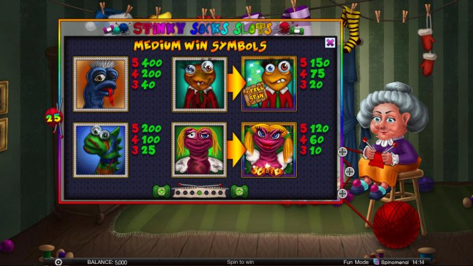 Images of Stinky Socks Slots