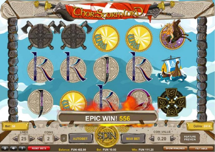 No Deposit Casino Guide - Multiple wild symbols triggers an epic win, 556 coins