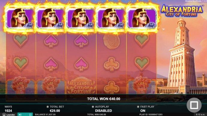 No Deposit Casino Guide image of Alexandria City of Fortune