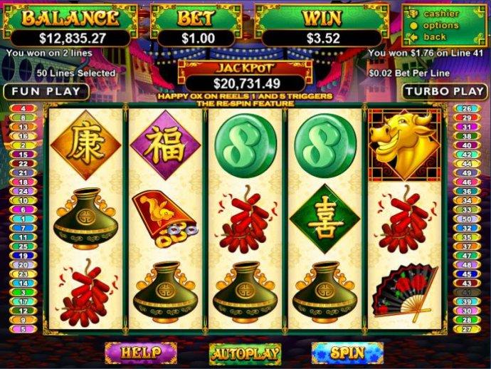 No Deposit Casino Guide image of Happy Golden Ox of Happieness