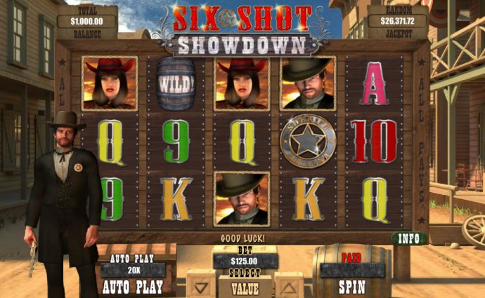 No Deposit Casino Guide image of Six Shot Showdown