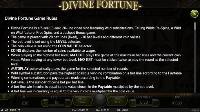 Divine Fortune by No Deposit Casino Guide