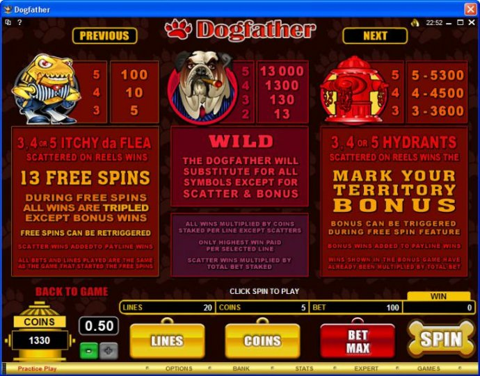 No Deposit Casino Guide image of Dogfather