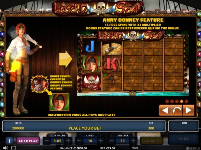 No Deposit Casino Guide image of Legend of the Sea