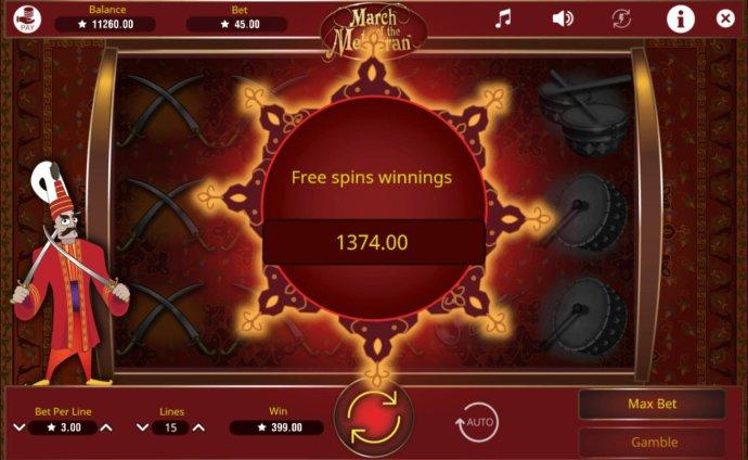 Total free spins bonus payout 1374 credits - No Deposit Casino Guide