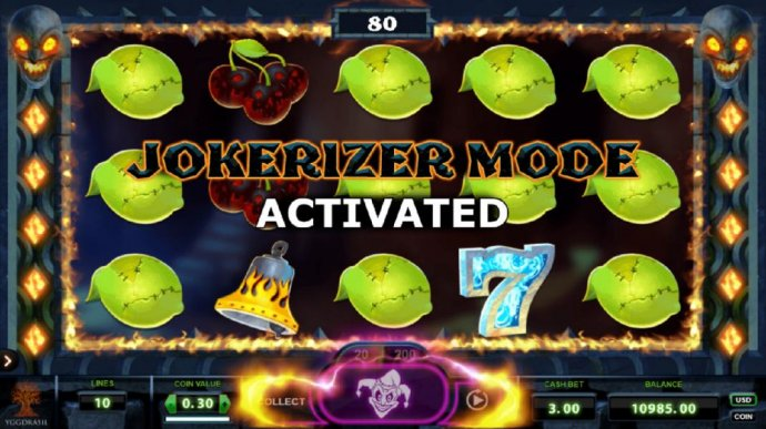 Jokerizer Mode activated after every winning spin. Collect or play. by No Deposit Casino Guide