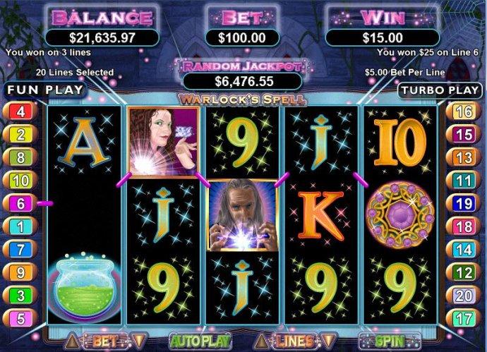 No Deposit Casino Guide image of Warlock's Spell