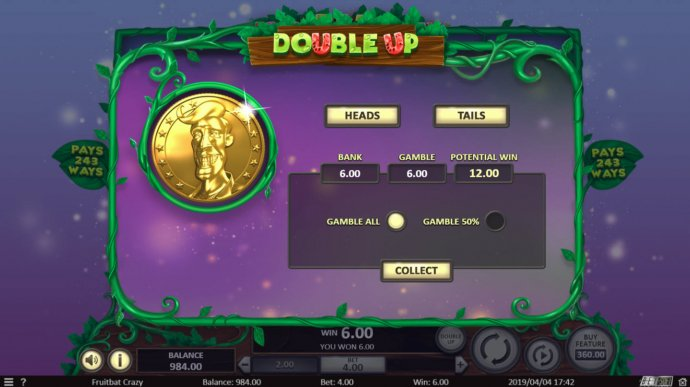 No Deposit Casino Guide - Gamble Feature Gameboard
