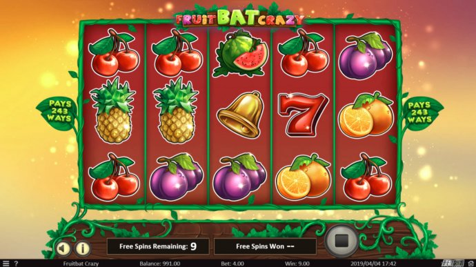 No Deposit Casino Guide image of Fruit Bat Crazy