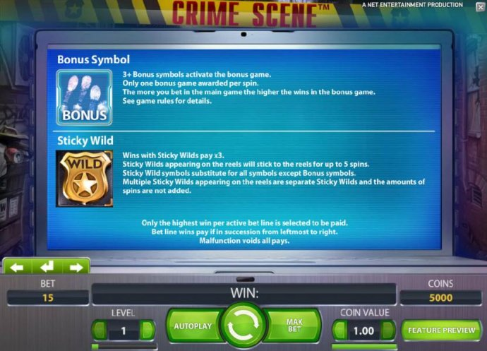 No Deposit Casino Guide image of Crime Scene
