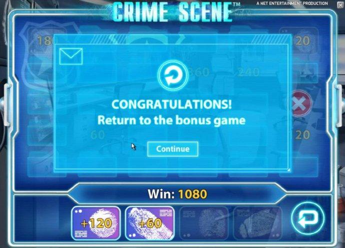 No Deposit Casino Guide - congratulations you get to return to the bonus game