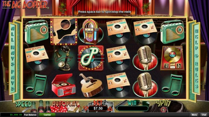 The Big Bopper by No Deposit Casino Guide