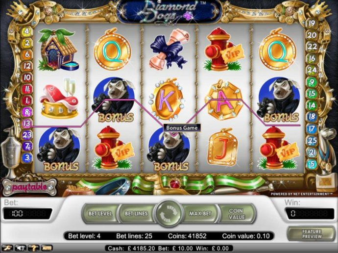 bonus game awarded when 3 or more bonus symbols appear on payline by No Deposit Casino Guide
