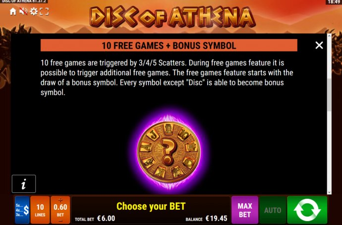 Disc of Athena by No Deposit Casino Guide