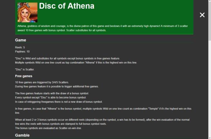 Disc of Athena screenshot