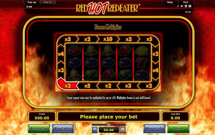 No Deposit Casino Guide image of Red Hot Repeater