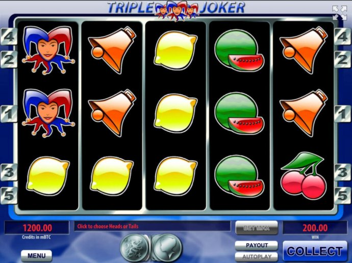 The gamble feature option is available after every winning spin. To play, clcik the Gamble button and then select whether heads or tails will appear next. by No Deposit Casino Guide