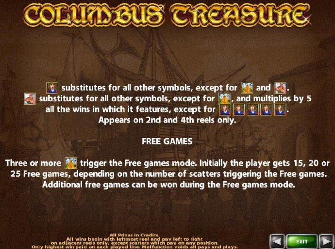 Columbus Treasure by No Deposit Casino Guide