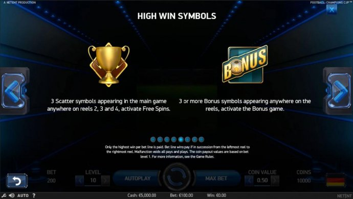 3 scatter symbols appearing in the main game anywhere on reels 2, 3 an 4, activate Free Spins. 3 or more bonus symbols appearing anywhere on the reels, activate the bonus game. - No Deposit Casino Guide