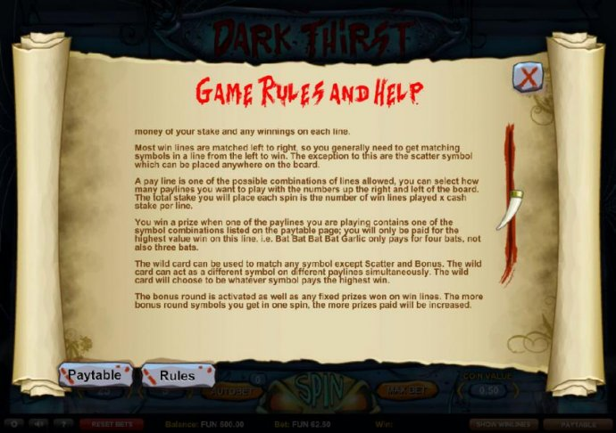 Game Rules and Help by No Deposit Casino Guide