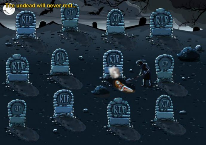 Select a grave to dig up and revael a prize. by No Deposit Casino Guide