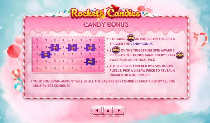 Candy Bonus Rules by No Deposit Casino Guide