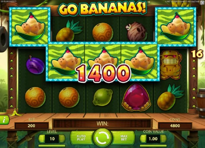 No Deposit Casino Guide - Five of a kind leads to a 1400 coin big win!